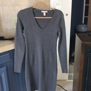 Banana Republic gray sweater dress